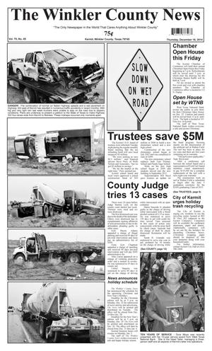 Primary view of object titled 'The Winkler County News (Kermit, Tex.), Vol. 79, No. 49, Ed. 1 Thursday, December 18, 2014'.