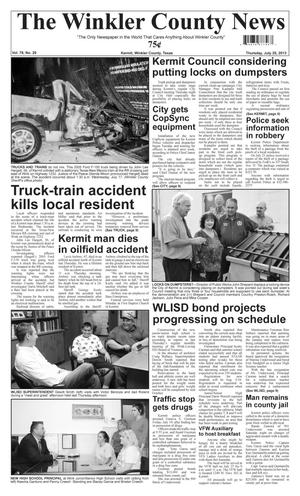 Primary view of object titled 'The Winkler County News (Kermit, Tex.), Vol. 78, No. 29, Ed. 1 Thursday, July 25, 2013'.