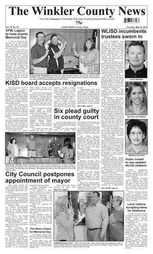 Primary view of object titled 'The Winkler County News (Kermit, Tex.), Vol. 78, No. 20, Ed. 1 Thursday, May 23, 2013'.