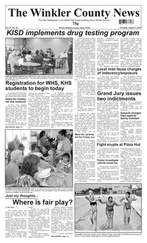 Primary view of object titled 'The Winkler County News (Kermit, Tex.), Vol. 79, No. 30, Ed. 1 Thursday, August 7, 2014'.