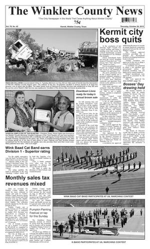Primary view of object titled 'The Winkler County News (Kermit, Tex.), Vol. 78, No. 42, Ed. 1 Thursday, October 24, 2013'.