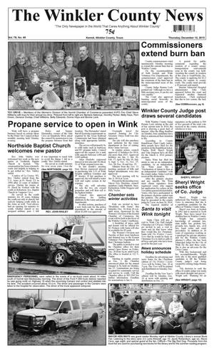 Primary view of object titled 'The Winkler County News (Kermit, Tex.), Vol. 78, No. 49, Ed. 1 Thursday, December 12, 2013'.