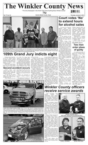 Primary view of object titled 'The Winkler County News (Kermit, Tex.), Vol. 77, No. 52, Ed. 1 Thursday, January 3, 2013'.