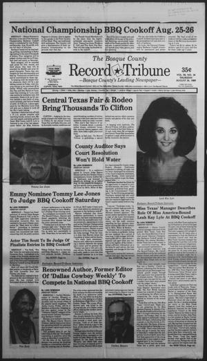 Primary view of object titled 'The Bosque County Record Tribune (Clifton, Tex.), Vol. 94, No. 34, Ed. 1 Thursday, August 24, 1989'.