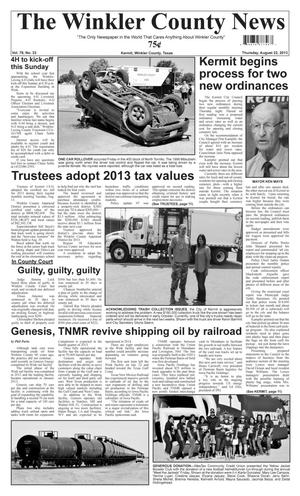 Primary view of object titled 'The Winkler County News (Kermit, Tex.), Vol. 78, No. 33, Ed. 1 Thursday, August 22, 2013'.