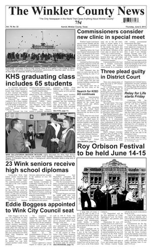 Primary view of object titled 'The Winkler County News (Kermit, Tex.), Vol. 78, No. 22, Ed. 1 Thursday, June 6, 2013'.