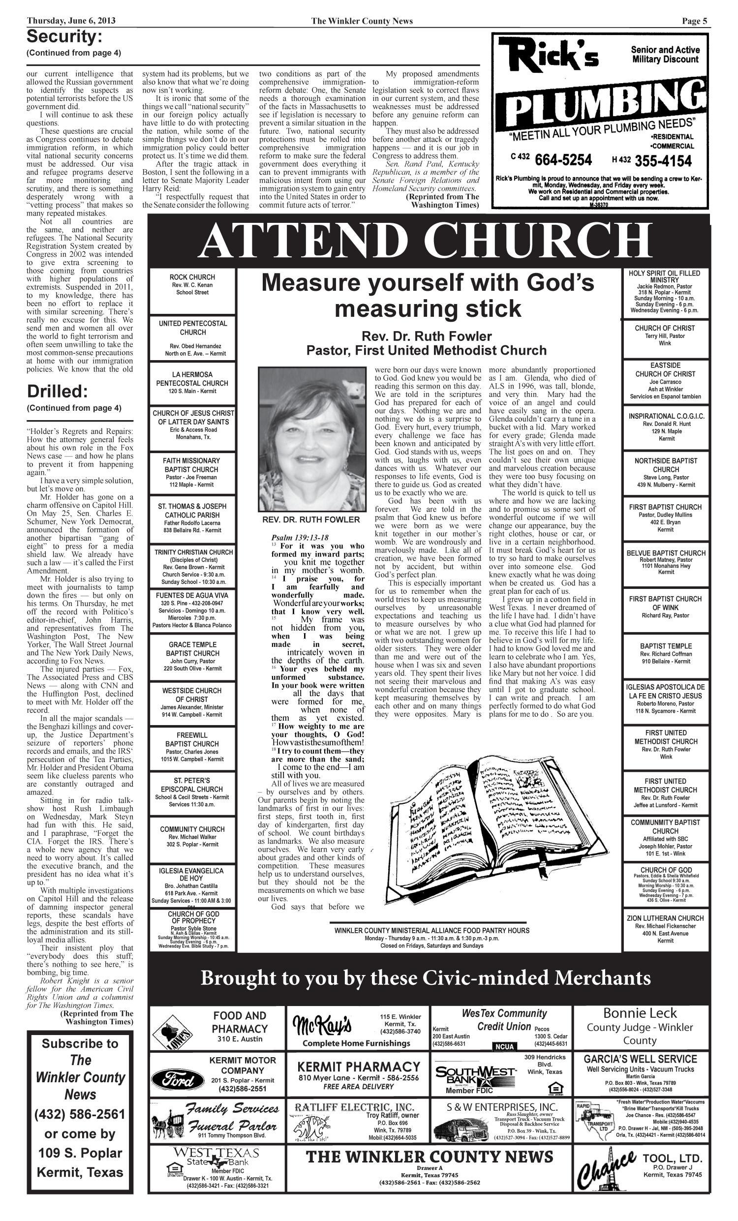 The Winkler County News (Kermit, Tex ), Vol  78, No  22, Ed