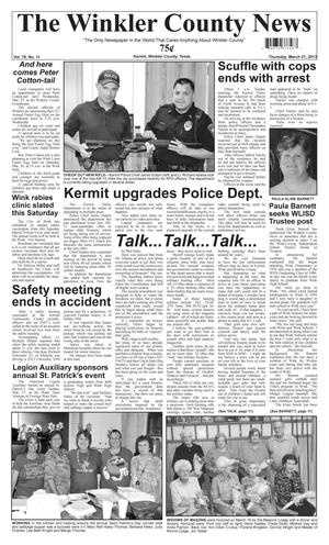 Primary view of object titled 'The Winkler County News (Kermit, Tex.), Vol. 78, No. 11, Ed. 1 Thursday, March 21, 2013'.