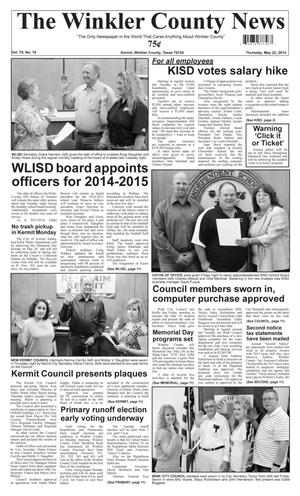 Primary view of object titled 'The Winkler County News (Kermit, Tex.), Vol. 79, No. 19, Ed. 1 Thursday, May 22, 2014'.