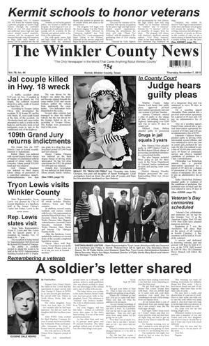 Primary view of object titled 'The Winkler County News (Kermit, Tex.), Vol. 78, No. 44, Ed. 1 Thursday, November 7, 2013'.