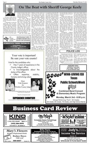 Primary view of object titled 'The Winkler County News (Kermit, Tex.), Vol. 79, No. 8, Ed. 1 Thursday, February 27, 2014'.