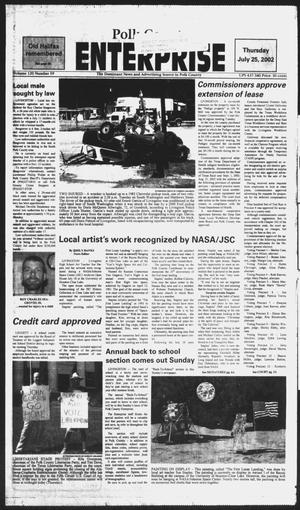 Primary view of object titled 'Polk County Enterprise (Livingston, Tex.), Vol. 120, No. 59, Ed. 1 Thursday, July 25, 2002'.