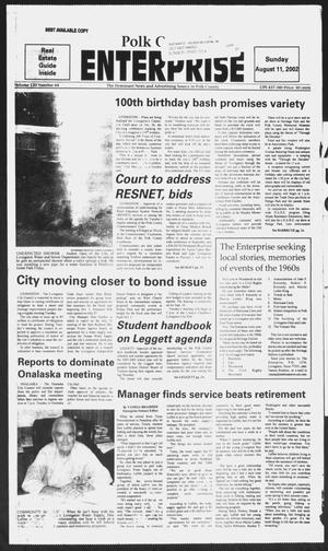 Primary view of object titled 'Polk County Enterprise (Livingston, Tex.), Vol. 120, No. 64, Ed. 1 Sunday, August 11, 2002'.
