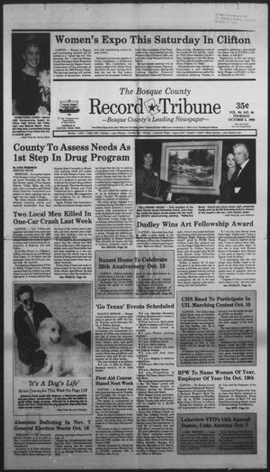 Primary view of object titled 'The Bosque County Record Tribune (Clifton, Tex.), Vol. 94, No. 40, Ed. 1 Thursday, October 5, 1989'.