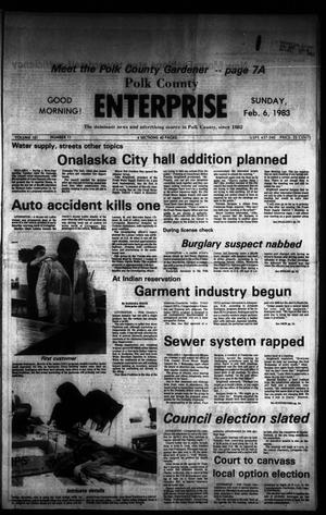 Primary view of object titled 'Polk County Enterprise (Livingston, Tex.), Vol. 101, No. 11, Ed. 1 Sunday, February 6, 1983'.