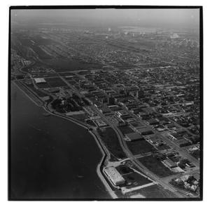 Primary view of object titled '[Aerial of National Guard Armory]'.