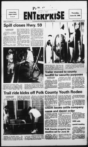 Primary view of object titled 'Polk County Enterprise (Livingston, Tex.), Vol. 114, No. 51, Ed. 1 Thursday, June 29, 1995'.