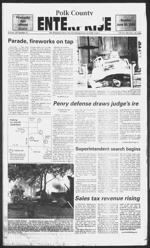 Primary view of object titled 'Polk County Enterprise (Livingston, Tex.), Vol. 120, No. 52, Ed. 1 Sunday, June 30, 2002'.