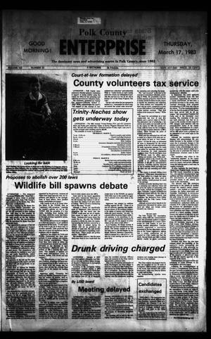 Primary view of object titled 'Polk County Enterprise (Livingston, Tex.), Vol. 101, No. 22, Ed. 1 Thursday, March 17, 1983'.