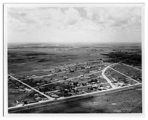 Primary view of object titled '[Aerial of Port Acres Community]'.