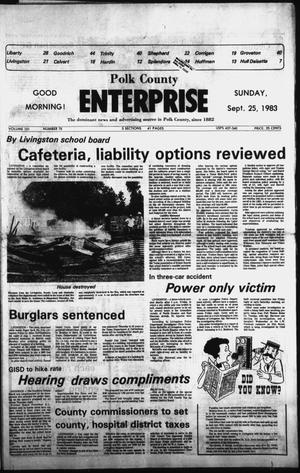 Primary view of object titled 'Polk County Enterprise (Livingston, Tex.), Vol. 101, No. 78, Ed. 1 Sunday, September 25, 1983'.