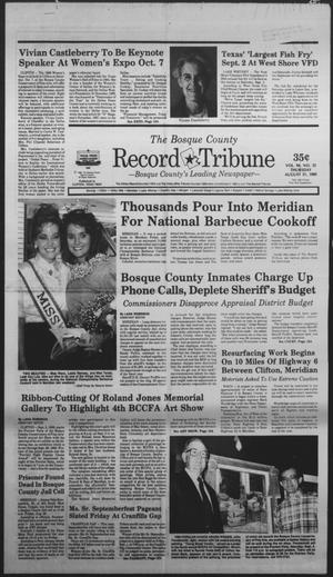 Primary view of object titled 'The Bosque County Record Tribune (Clifton, Tex.), Vol. 94, No. 35, Ed. 1 Thursday, August 31, 1989'.