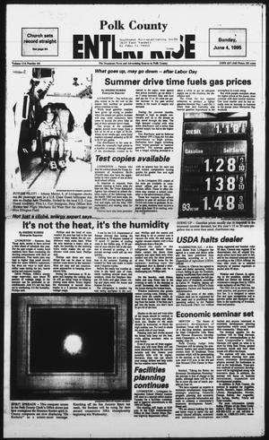 Primary view of object titled 'Polk County Enterprise (Livingston, Tex.), Vol. 114, No. 44, Ed. 1 Sunday, June 4, 1995'.