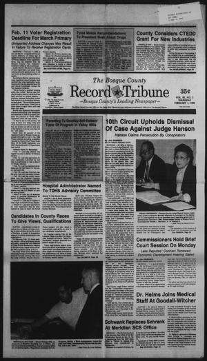 Primary view of object titled 'The Bosque County Record Tribune (Clifton, Tex.), Vol. 95, No. 5, Ed. 1 Thursday, February 1, 1990'.