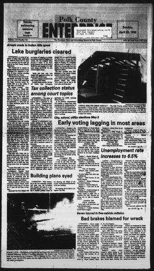 Primary view of object titled 'Polk County Enterprise (Livingston, Tex.), Vol. 116, No. 34, Ed. 1 Sunday, April 26, 1998'.