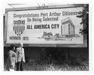 Primary view of object titled '[All American City Billboard]'.