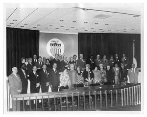 Primary view of object titled '[All American City Delegates]'.