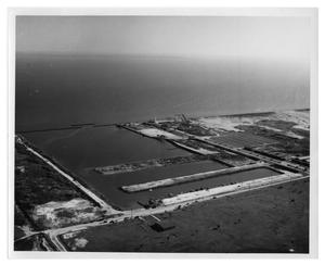 Primary view of object titled '[Aerial View of Pleasure Island Marina]'.