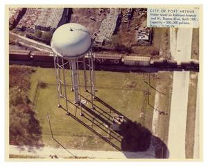 Primary view of object titled '[Aerial View of Water Tower]'.