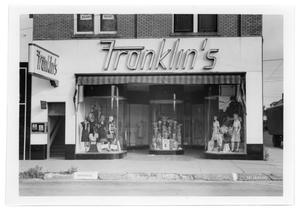 Primary view of object titled '[Franklin's Dress Shop]'.