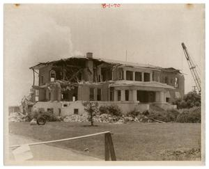 Primary view of object titled '[Demolition of Mary Gates Hospital and Municipal Building]'.