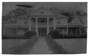 Primary view of object titled '[Front View of Rose Hill Manor]'.