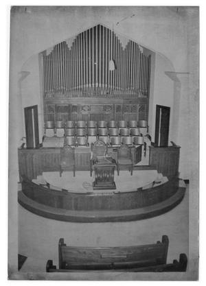 Primary view of object titled '[Sanctuary of First United Methodist Church]'.