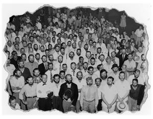 Primary view of object titled '[Contestants in Beard Judging Contest]'.