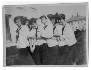Primary view of object titled '[Photograph of Young College Girls]'.
