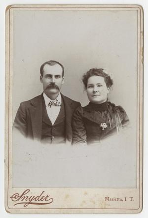 Primary view of object titled '[Portrait of Matt and Maggie Bennett]'.