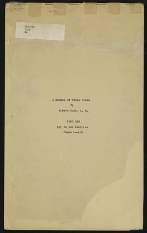 A Manual of Texas Flora