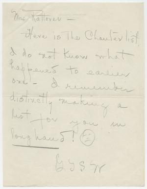 [Letter from Mrs. Rattavee to Gypsy Ted Sullivan Wylie]