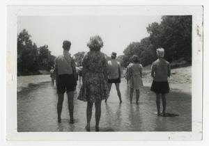 [Photograph of People Standing in Stream]