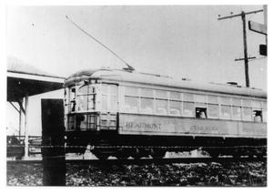 Primary view of object titled '[Beaumont Trolley in Port Arthur]'.