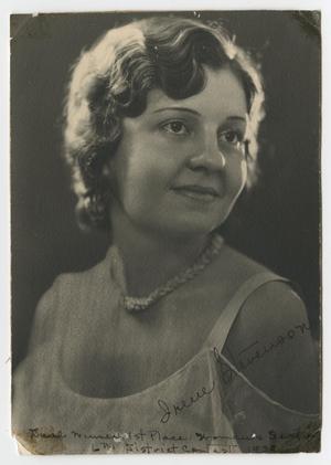 [Portrait of Irene Stevenson]
