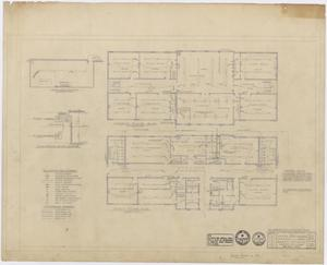 Primary view of Anson High School Alterations: First Floor Mechanical Plan