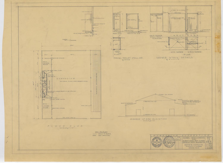 shower stall schematic school improvements  blanket  texas floor plan  elevation  and  blanket  texas floor plan  elevation