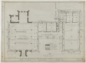 Primary view of Episcopal Church Remodel, Abilene, Texas: Floor Plan