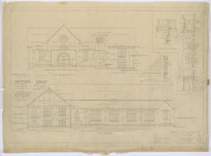 Primary view of Fairmont Methodist Episcopal Church, Abilene, Texas: Elevations