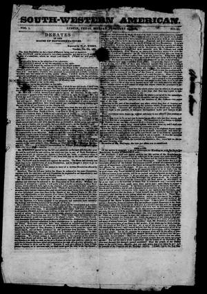 South-Western American. (Austin, Tex.), Vol. 1, No. 31, Ed. 1, Monday, February 4, 1850